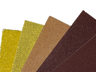 Assorted grades of sandpaper